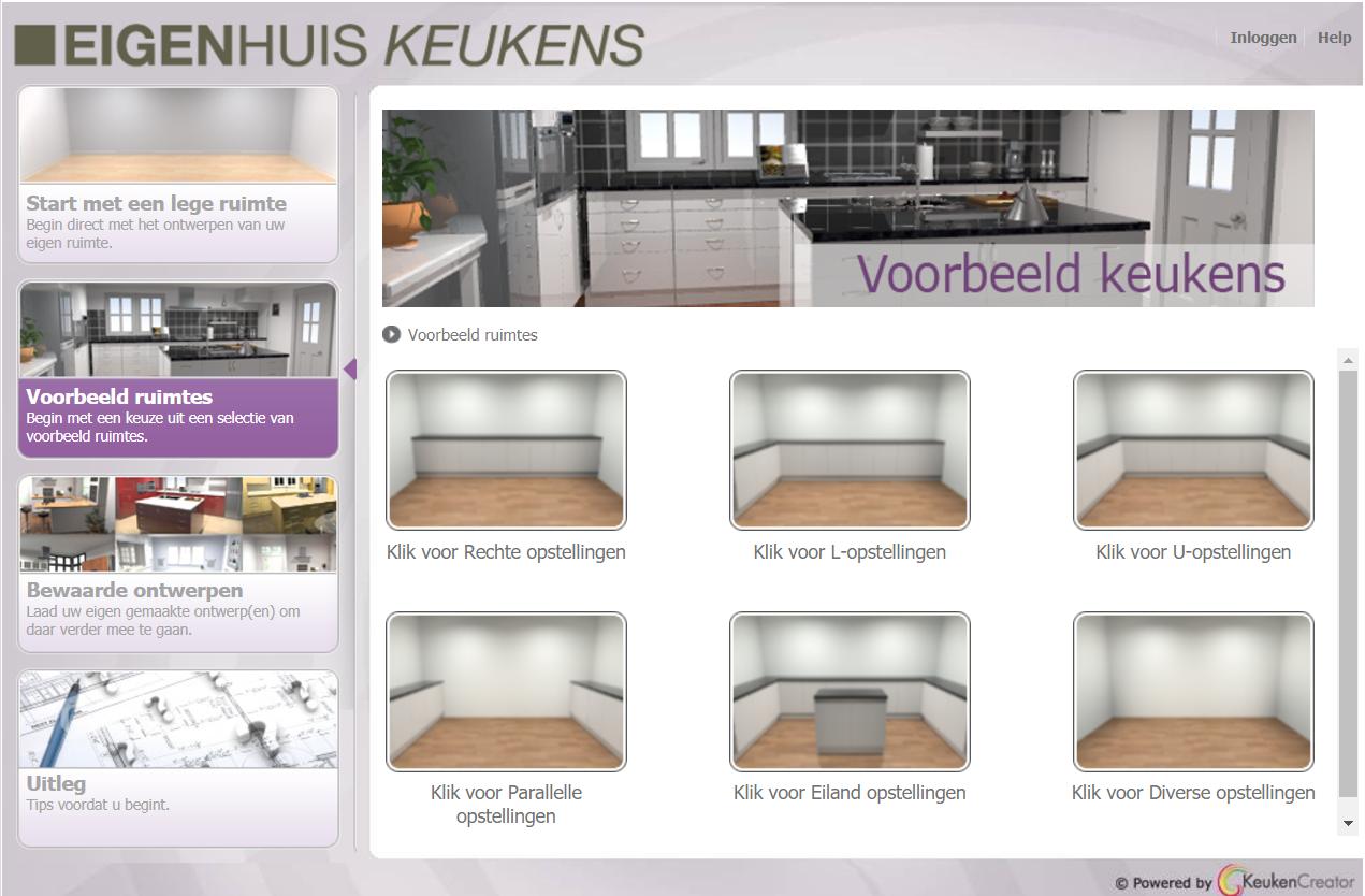 Eigenhuis keuken ontwerpen 3D